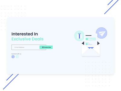 Deznit - Subscribe Section illustration minimal ui website design subscription box subscribe deznit
