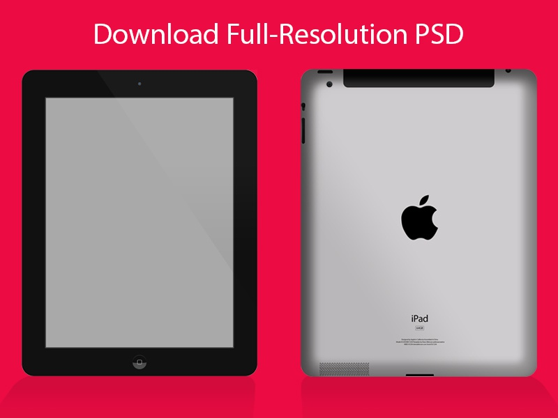 iPad Mockup PSD - Black psd free download mockup ipad front back vector resource retina photoshop layer style