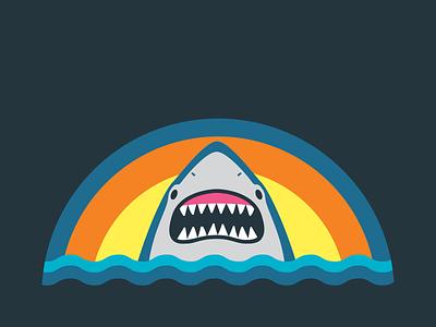 Shark Hat for New York Aquarium apparel shark hat aquarium vector illustration cap sunset sunrise simple animal fish