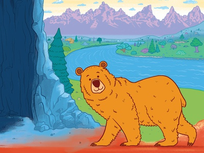 Wild About Bears Illustrations - Walking