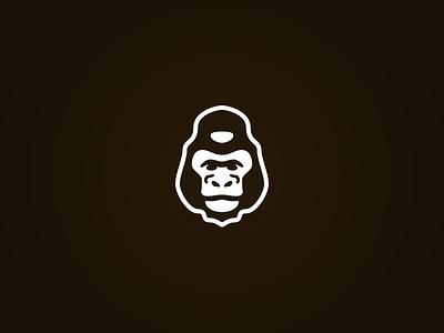Gorilla Icon gorilla ape monkey icon wildlife nature vector mark illustration animal silverback symmetry