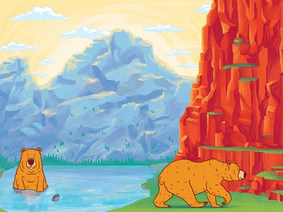 Wild About Bears Illustrations - Wide