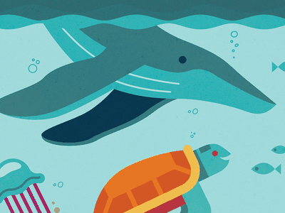 Wild About Oceans - Whale & Friends kids illustration marine animals vector sea underwater water turtle whale fish oceans