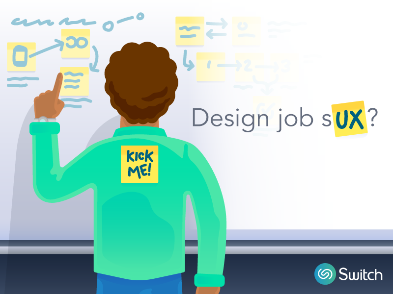 Design job sUX? promotion job tech vector character design thinking ux ad illustration