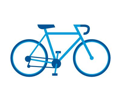 Bicon icon bike blue mark bicycle iconography illustration vector simple