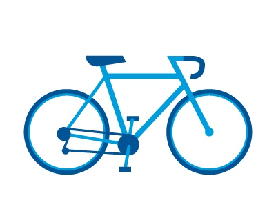 Bicon icon bike blue mark bicycle iconography illustration vector simple