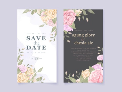 beautifull wedding invitation for instagram story templates instagram template invitation invite stories social media instagram banner instagram stories beautifull template design invitation card wedding invite illustration vector wedding card wedding invitation graphic design design engagement branding design