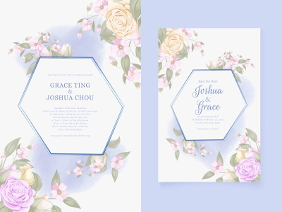 wedding invitation template design floral wedding cards watercolor floral design floral template design template invitation design invitation set invite wedding wedding invite illustration invitation invitation card graphic design engagement design wedding invitation wedding card branding design