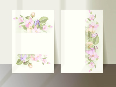 wedding invitation template with flower and leaf leaves floral vector wedding invitation card graphic design wedding invite illustration wedding invitation wedding card invitation design engagement branding design