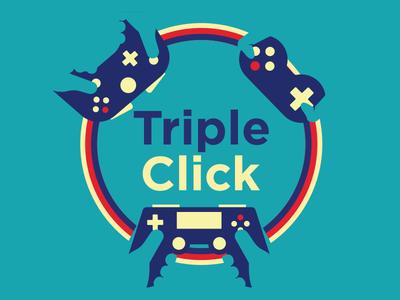 Triple Click Podcast Logo videogames design maximum fun graphic design vector illustration podcast logo logo design logo illustration