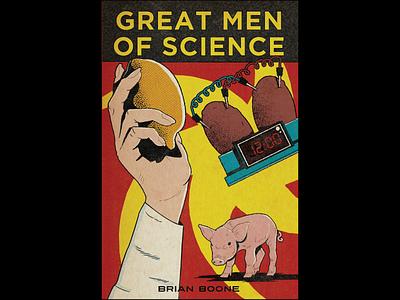 Book Cover Design science fiction science lemon potato pig vector illustration graphic design illustration book cover