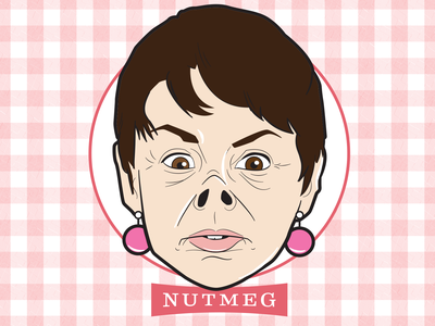 Nutmeg! personal project nutmeg amy sedaris amy sedaris vector illustration illustration