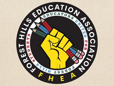 Teacher's Union Logo vector design pencils fist teachers union teachers union logodesign design logo design vector illustration graphic design logo