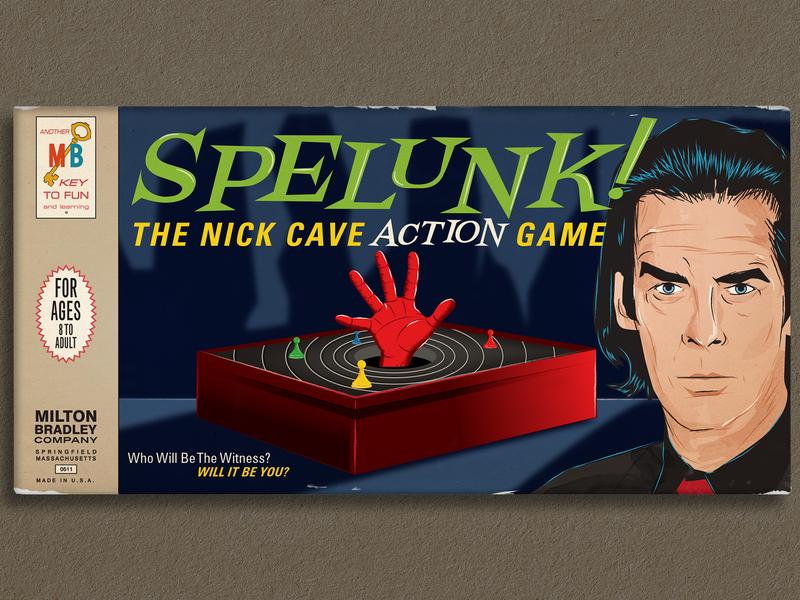 Spelunk! (Fake Board Game) hand vector illustration board game retro design design library graphic design graphic design illustration