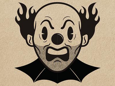 A Tiny Voice Inside clowns retro style evil clown clown vector vector illustration illustration