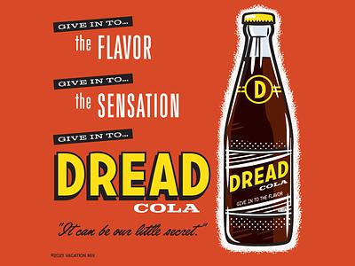 Give in to the Flavor retro design fake vintage soft drink soda fake ad vintage design design vector illustration graphic design illustration