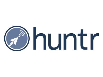 Huntr Logo maximum fun fake company bubble podcast podcast logo logo podcast
