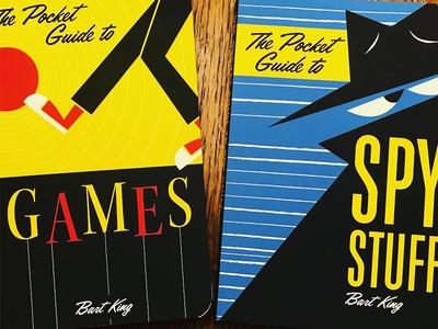 Pocket Guides retro design book cover design cover design graphic design games spies illustration book cover