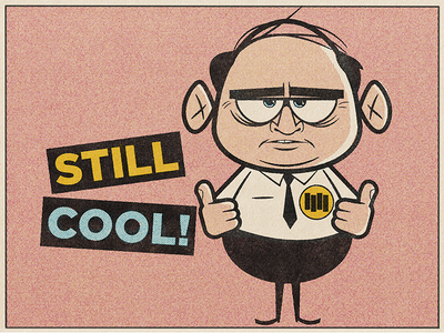 Still Cool After All These Years retro illustration debaser true grit texture supply comic book aging punk black flag illustration