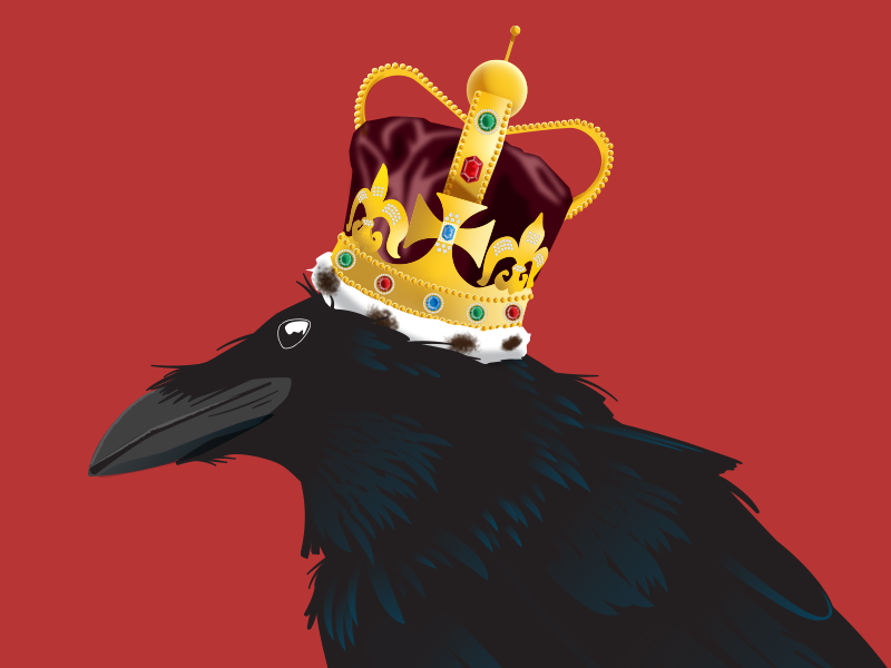 I Am The Black Crow King crow crown gig poster raven vector illustration poster design illustration