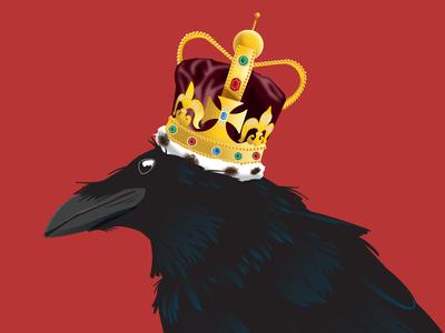 I Am The Black Crow King crow crown gig poster raven vector illustration poster design illustration