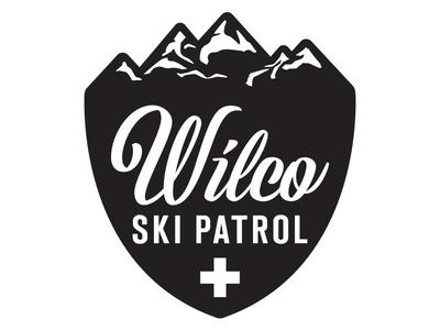 Wilco Ski Patrol band merch skiing badge design badge logo mountains graphic design vector logo ski patrol logo wilco band logo logo design logo