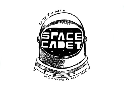 Doodle 07 // Space Cadet thetechnicolors space personal new york city nyc sketch ink hand-drawn drawing doodles illustration