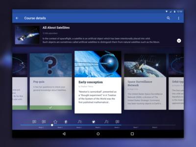 E-learning platform concept