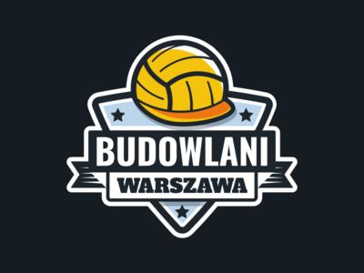 """""""Budowlani Warszawa"""" Volleyball Team Logo"""