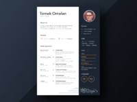 Personal resume design by tomek omelan 2x