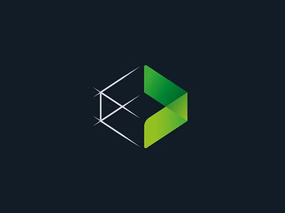 Architectural Visualization 3d blueprint sketch cube visualization modern logo architecture