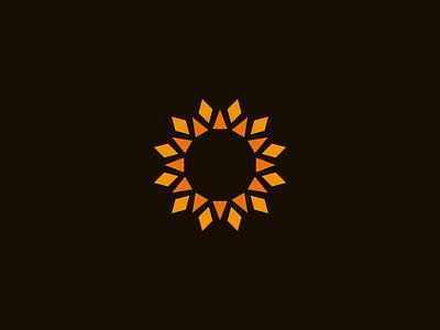 Solar industry logo symmetrical sun solar power modern logo industrial geometric energy