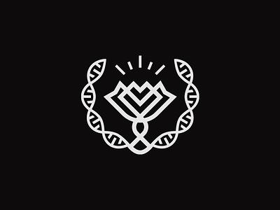 Evolution strand logo inspirational growth flower evolution dna chain