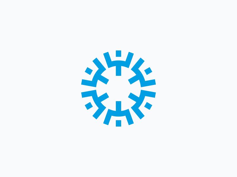Wordpress website development agency development tech pixel code data symmetrical web pigment wordpress minimal geometric logo