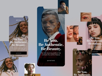 Beyou App app design fashion minimal stream beauty app
