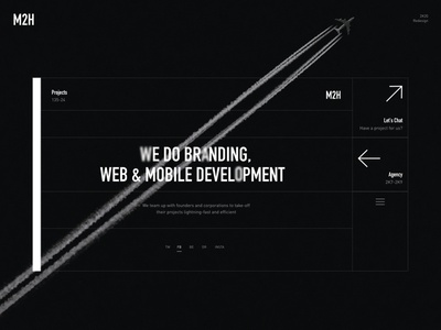 Main Page agency website web minimal desktop website