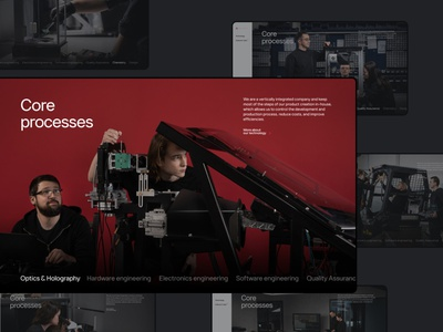 WayRay Redesign red color web minimal desktop website