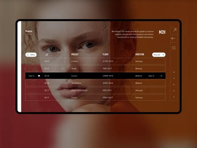 Cases page color ui red web minimal desktop website