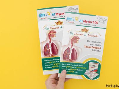 Flyer Single Side for RND Laboratories layout design medicine visual design print design brand identity product card product info flyer