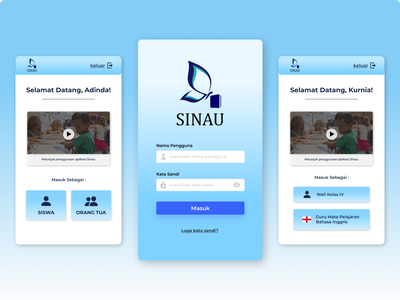 SINAU - Learning Management System ux user interface learning management system ui mobile