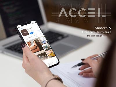 Accel__ app logo design