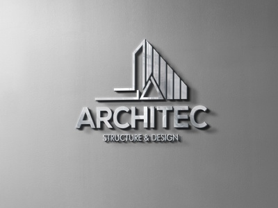 Architec_metalic logo design logo design