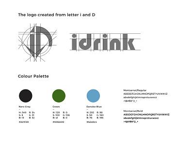 i + D vector pallete design logo