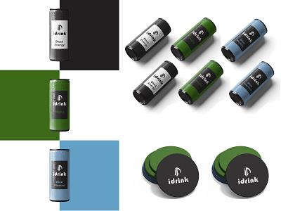 Design for i-drinks minimal branding design logo