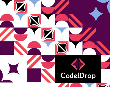 Design_CodelDrop pattern vector pallete logo branding design