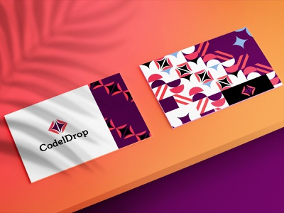CodelDrop_ colors branding logo design