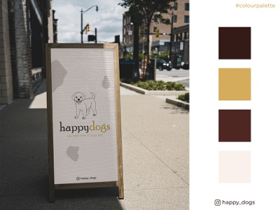 colourpalette_happydogs pallete logo design