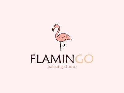 Logo design FLAMINGO animal minimal illustration design logo