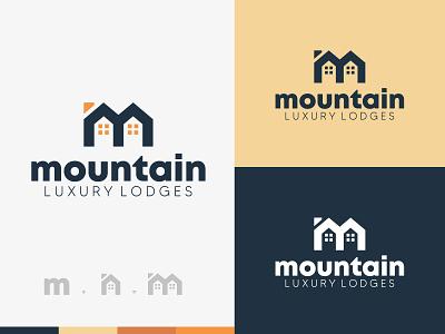 mountain branding luxury brand brand identity home family accomodation logodesign logo hotel house lodge