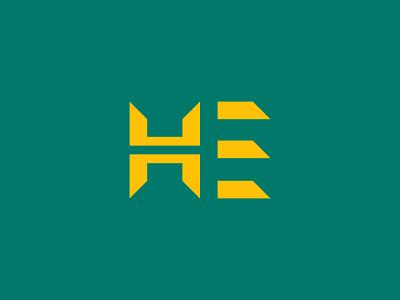 Hicham Errahmani Logo Design e letter h logo author socialmedia facebook youtube education culture study content branding logo